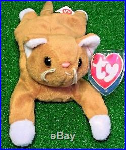 1993 Nip The Cat Ty Beanie Baby Rare Retired 2nd Gen TUSH 3rd Gen Swing MWMT