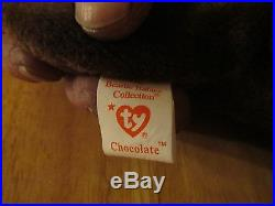 1993 Rare Original Chocolate the Moose Ty Beanie Baby withP. E. Pellets