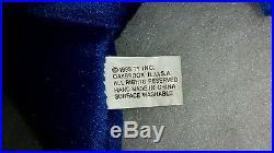 1993 Royal Blue Peanut The RARE Elephant on Case & The Royal blue Teenie Beanie
