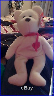1994ULTRA RARE TY BEANIE BABIES PLUSH VALENTINO with SPELLINGERRORS & PVCPELLETS