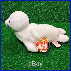 1996 SEAMORE The SEAL Retired TY BEANIE BABY Rare NO STAR PVC Plush Toy MWNMT