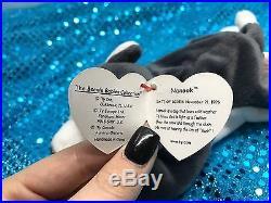 1996 Ty Beanie Babies ULTRA RARE Nanook with ERROR MWMT