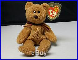 1996 Ty Beanie Baby Curly bear Rare hang tag Errors  d85e8105d18
