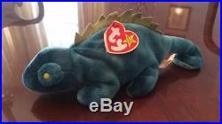 1997 Rare TY Actual IGGY & Error Rainbow Retired Beanie Baby Set