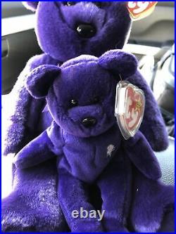 1998 Super RARE! LargeTy Beanie baby Princess Diana Bear 9 Rare Books