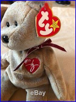 1999 Signature Bear TY Beanie Baby With Rare Tag Errors