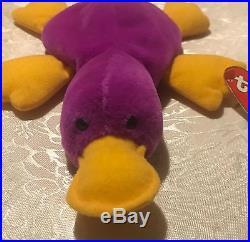 1st Gen Patti Platypus 4025 Beanie Baby Extremely Rare Tag Errors Original 9