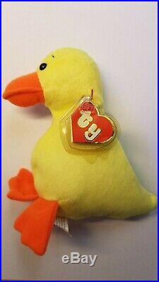 1st Gen Wingless Quackers Ty Beanie Baby ULTRA RARE 1993 Beanie Babies