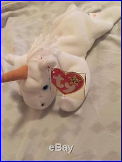 2 RARE 1994 Brown Horn TY Mystic Beanie Babies with Mistakes Style #4007