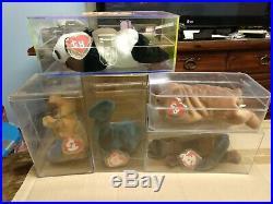 31 Rare Ty Beanies Babies Punchers, Flutter, Steg, Bronty, Rex, Slither etc