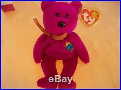 99 MILLENIUM bear BEANIE BABY, RARE, ALL ERRORS PLUS EXTRA TAG MINT