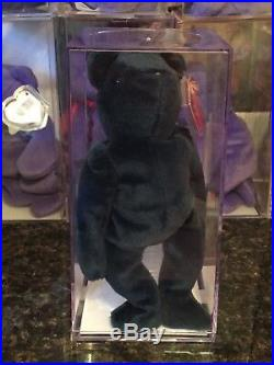 AUTHENTICATED MWMT-MQ Old Face (OF) Jade Teddy RARE 1st/1st Gen Ty Beanie Baby