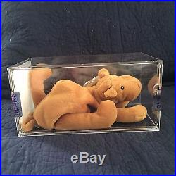 AUTHENTICATED TY beanie baby Humphrey 1st gen True Blue Beans Ultra Rare