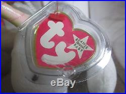 AUTHENTICATED Ty Original Beanie Baby RARE Mystic With RARE WHITE STAR Retired