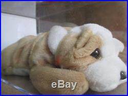 AUTHENTICATED Ty Original Beanie Baby RARE WRINKLES With RARE WHITE STAR Retired
