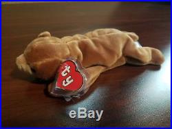 Authentic 100% Ty Beanie Baby Rare 1st/1st Gen Tag Brownie with UK Sticker MWMT-MQ
