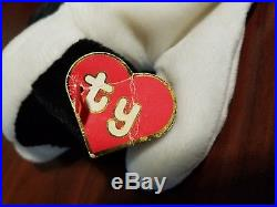 Authentic 100% Ty Beanie Baby Rare Spot 1st/1st Gen Hang Tag 4-Line Korean Tush