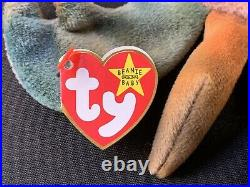 Authentic Rare With Errors! TY Beanie Baby CLAUDE The Crab In Mint Condition