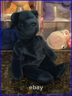Authentic Super Rare 1st Generation Old Face JADE TEDDY Bear Ty Beanie Baby