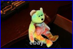 Authentic Ty Beanie Babies Peace Bear Rare & Retired Vintage