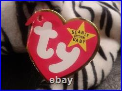 Authentic Very Rare Ty Beanie Baby Blizzard The Tiger Many Errors 1996 Retired