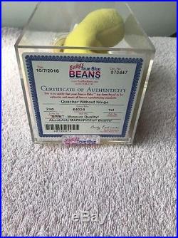 Authenticated 2nd/1st Gen Wingless Quacker MWMT MQ Rare Beanie Baby