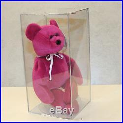 70666354ede Authenticated Teddy NF Magenta (Rare) MWMT MQ 2nd gen Ty Beanie baby (AP