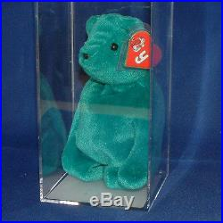 Authenticated Teddy OF Teal (Ultra Rare) MWMT MQ 1st/1st gen Ty Beanie AP 11