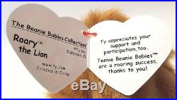 Authenticated Ty Beanie 1998 MCDONALD'S CONVENTION ROARY So, So Rare MWMT MQ
