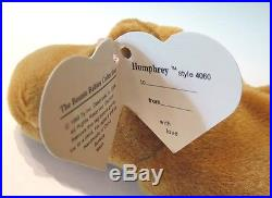 Authenticated Ty Beanie 2nd Gen Canadian EMBROIDERED Humphrey MWMT MQ ULTRA RARE
