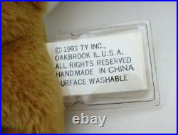 Authenticated Ty Beanie 3rd / 1st Gen OLD FACE NIP Flawless MWMT MQ Ultra Rare