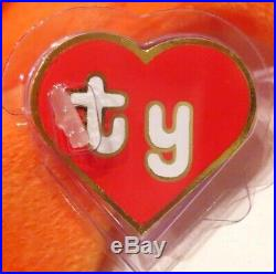 Authenticated Ty Beanie Baby 1st Gen ORANGE DIGGER Ultra Rare & Pristine MWMT MQ