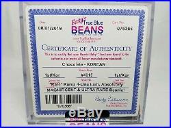 Authenticated Ty Beanie Baby Chocolate Original 9 Rare Korean 1st/1st Gen MWNMT