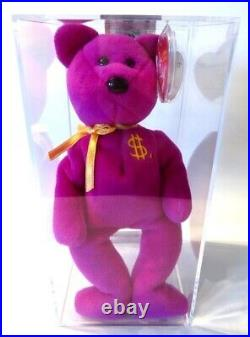 Authenticated Ty Warner Signed Beanie Baby BILLIONAIRE 13 Teddy MWMT MQ So Rare