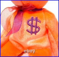 Authenticated Ty Warner Signed Beanie Baby BILLIONAIRE 3 Teddy MWMT MQ So Rare