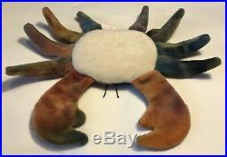 BEANIE BABY TY Claude the Crab 4083 3g Tush, 4g v6 Heart 1996 VERY RARE