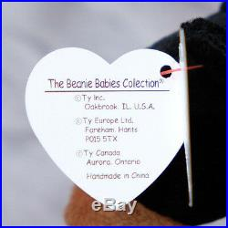 BLACKIE THE BEAR RARE BEANIE BABY 7 Tag Errors AUTHENTICATED 1993 1994