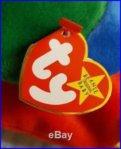 Beanie Baby JABBER THE PARROT Excellent Condition Major Tag Errors RARE RARE