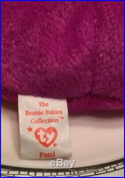 Beanie Baby Patti Platypus RARE Original 9 Tag Errors PVC 1993 MINT