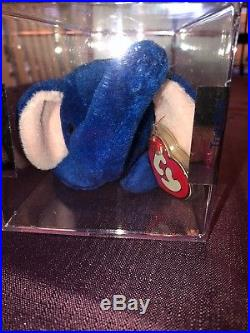 Beanie babies rare Peanut Royal Blue