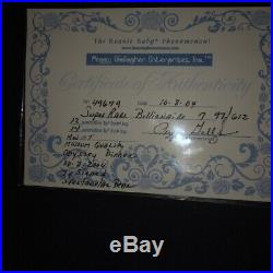 Billionaire beanie 97/612 Super Rare museum quality, Ty Signed Spectacular Bear