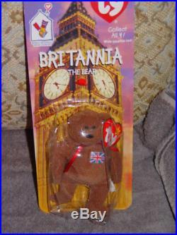 Britannia The Bear 1997 McDonalds Ty Beanie Baby Rare Errors OakBrook