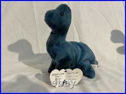 Bronty, Rex, and Steg TY Beanie Baby RARE 3rd Gen Hang Tag & 1st Gen Tush Tag