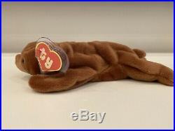 Brownie MWMT- MQ Beanie Baby 1st Gen with Rare UK Sticker and 5 Line Korean Tush