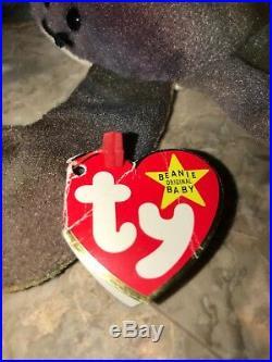 CLAUDE Ty Beanie Baby 1996. Tag errors! RARE