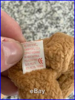 CURLY BEAR beanie baby rare retired origiinal suface errors 11 ERRORS