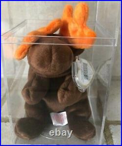 Chocolate The Moose Ty Beanie Baby 1993 Mint Condition New Rare Retired Star Tag