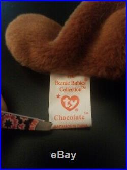Chocolate Ty Beanie Baby Rare with errors