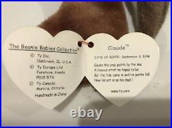 Claude The Crab 1996 RARE BEANIE BABY