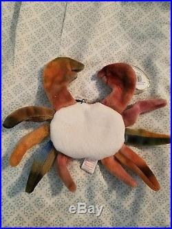 Claude the crab beanie baby Rare